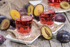 Plum Liqueur Royalty Free Stock Images