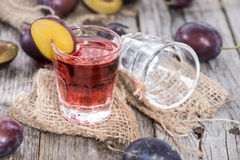 Plum Liqueur Stock Photography