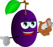 Plum with lyre Royalty Free Stock Photos