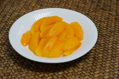 Plum Mango slices royalty free stock image