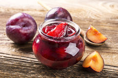 Plum Marmelade Stock Photography