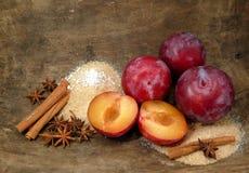 Plum-mash ingredients Royalty Free Stock Image