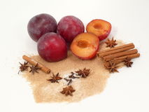 Plum-mash ingredients Royalty Free Stock Images
