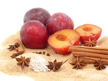 Plum-mash ingredients Royalty Free Stock Photography