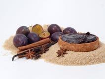 Plum-mash ingredients Royalty Free Stock Photo