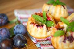 Plum muffins Royalty Free Stock Photo