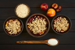 Plum and Nectarine Crumble Stock Images