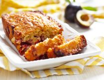 Plum oatmeal cake Stock Images