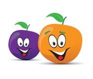 Plum and orange faces Stock Photo