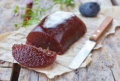 Plum paste Stock Photo