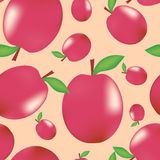 Plum pattern Stock Images