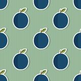 Plum pattern. Seamless texture with ripe plums. Use as a pattern fill Stock Images