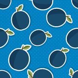 Plum pattern. Seamless texture with ripe plums Royalty Free Stock Photo