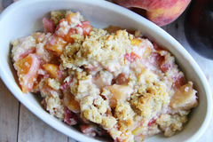 Plum peach crisp Stock Photos