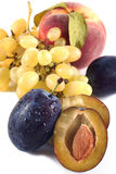Plum,peach and grape Royalty Free Stock Photos