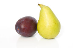 Plum and pear Royalty Free Stock Photo