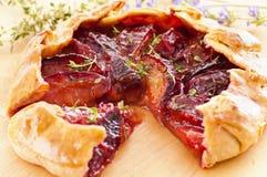 Plum pie Stock Image