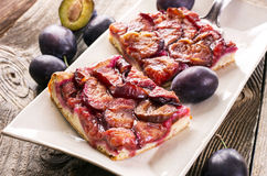 Plum Pie Royalty Free Stock Images