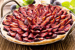 Plum Pie in Pan Royalty Free Stock Photos