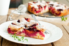Plum pie Stock Image