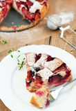 Plum pie Stock Photos