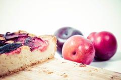 Plum pie Stock Photography