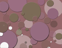 Plum polka dots Stock Photos