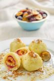 Plum potato dumplings Royalty Free Stock Photography