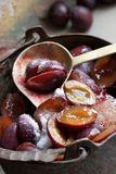 Plum preserve Stock Photo