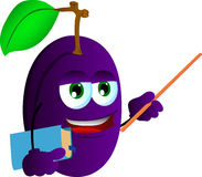 Plum professor Stock Image
