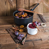 Plum puree Stock Image