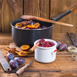 Plum puree Royalty Free Stock Image