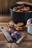 Plum puree Royalty Free Stock Photography