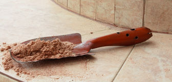Plum with sand Stock Image