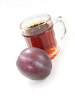 Plum schnapps Royalty Free Stock Photos