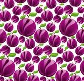 Plum seamless pattern stock illustration