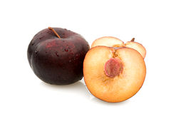 Plum Sectioned royalty free stock images