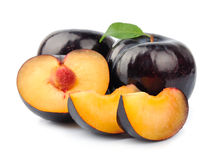 Plum segments Royalty Free Stock Photos