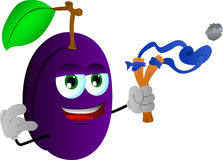 Plum with a slingshot Royalty Free Stock Images