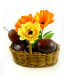 Plum small basket Stock Images