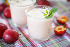 Plum smoothie Stock Image