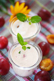 Plum smoothie Royalty Free Stock Photos