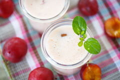 Plum smoothie Stock Images
