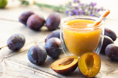 Plum smoothie Royalty Free Stock Photography