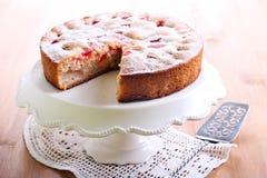 Plum sponge cake Royalty Free Stock Photo