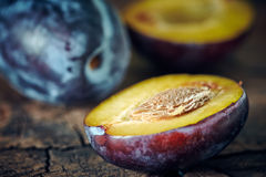 Plum still life close-up Royalty Free Stock Photography