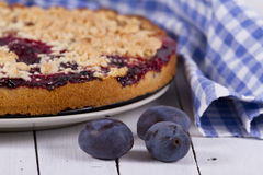 Plum Streusel cake Royalty Free Stock Photo