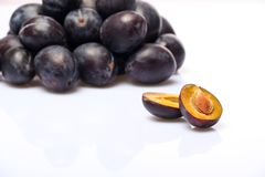 Plum study Stock Photography