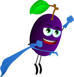 Plum superhero Royalty Free Stock Photo