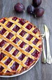 Plum tart Royalty Free Stock Photos